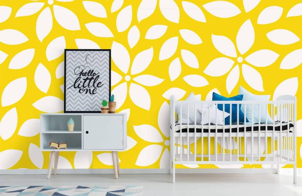 Autre - Motif fleur jaune - Chambre de bébé 6