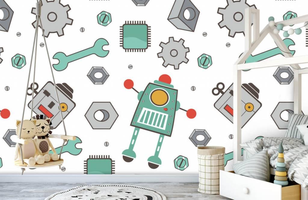 Papier peint enfants - Robots dessinés - Chambre d'enfants 1