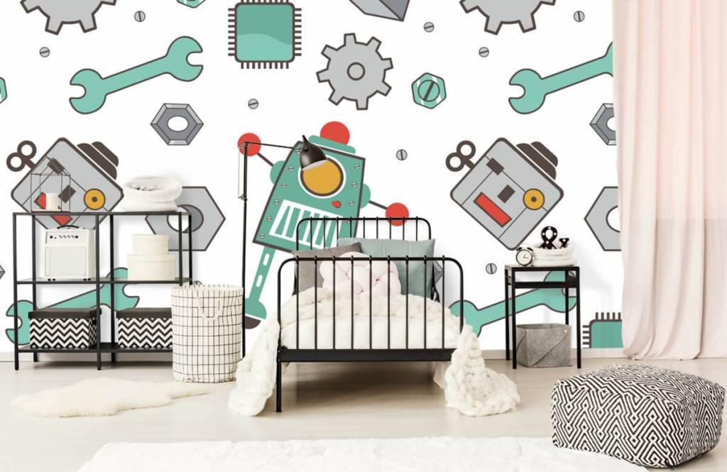Papier peint enfants - Robots dessinés - Chambre d'enfants 2