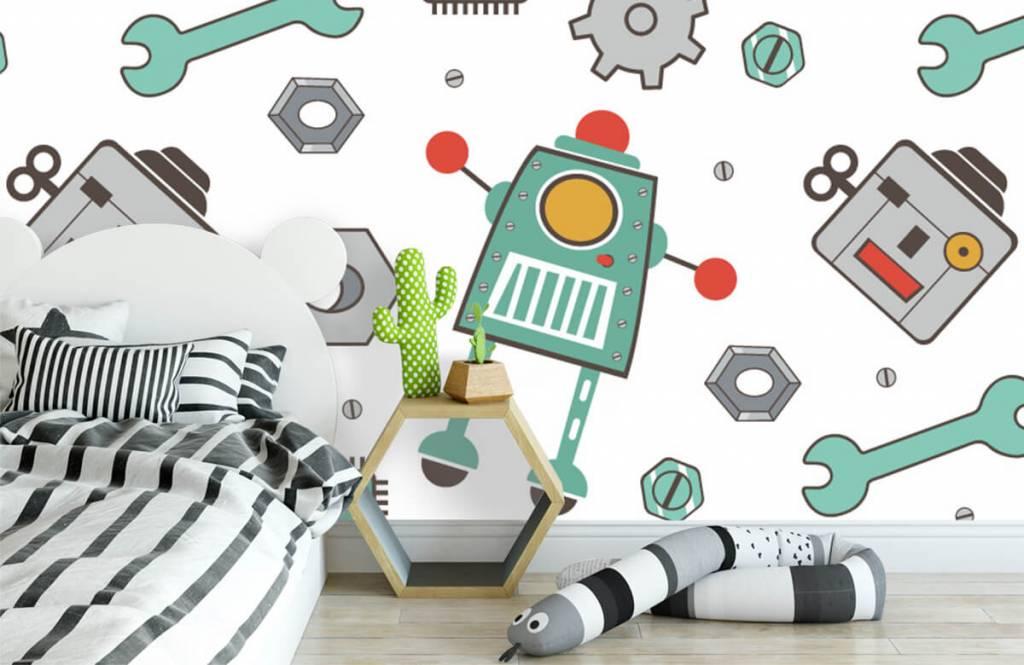 Papier peint enfants - Robots dessinés - Chambre d'enfants 3