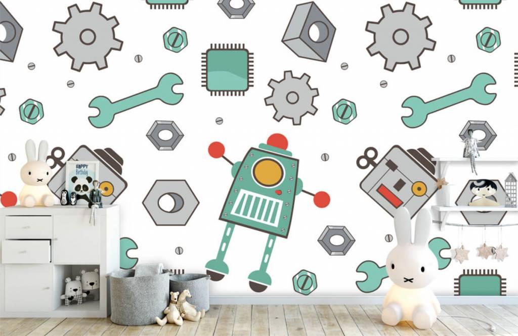 Papier peint enfants - Robots dessinés - Chambre d'enfants 4