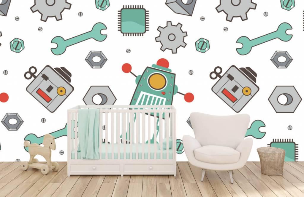Papier peint enfants - Robots dessinés - Chambre d'enfants 5