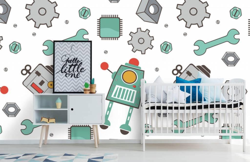 Papier peint enfants - Robots dessinés - Chambre d'enfants 6