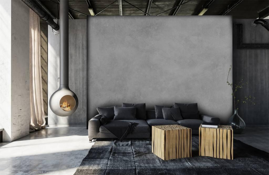 Papier peint aspect béton - Structure en béton brillant - Bureau 6