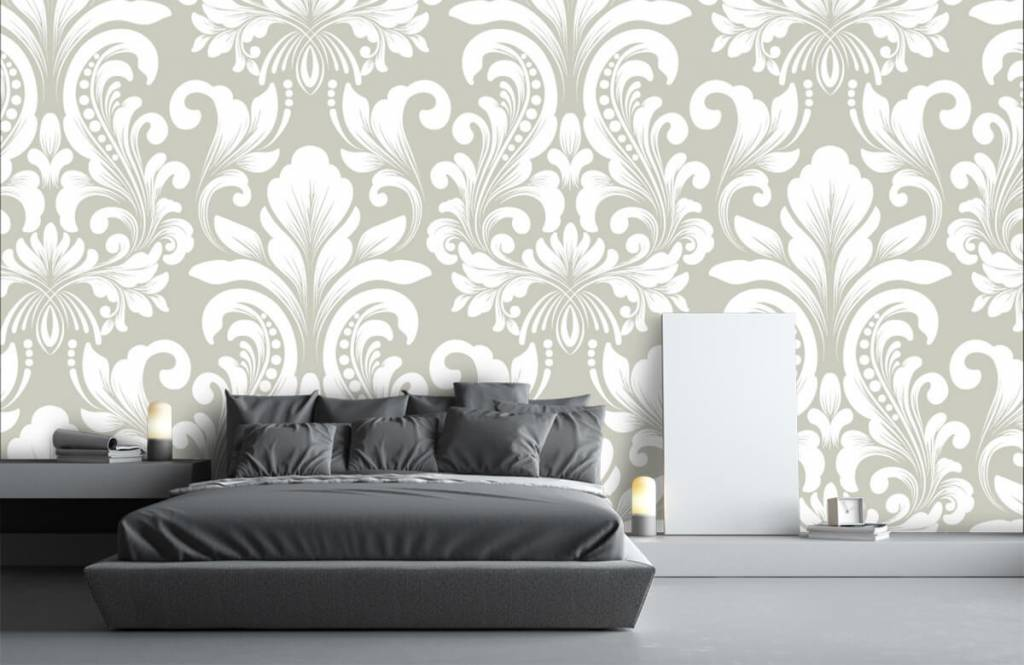 Papier peint baroque - Motif brouillard nuageux - Chambre à coucher 3