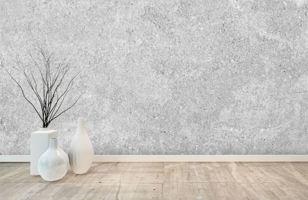 Papier peint aspect béton - Structure en béton gris - Cuisine 4