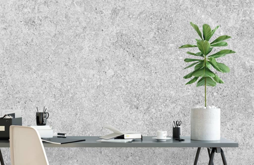 Papier peint aspect béton - Structure en béton gris - Cuisine 6