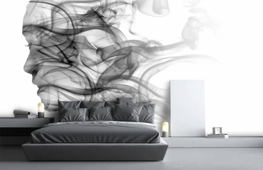 Papier peint moderne - Tête formée de fumée - Bureau 3