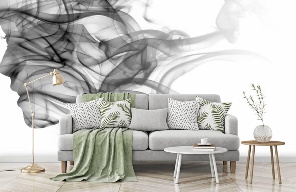 Papier peint moderne - Tête formée de fumée - Bureau 7