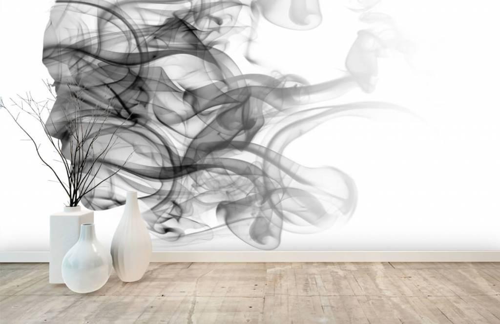 Papier peint moderne - Tête formée de fumée - Bureau 8