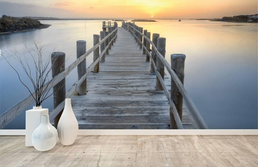Lacs et eaux - Ponton au coucher du soleil - Salle de séjour 1