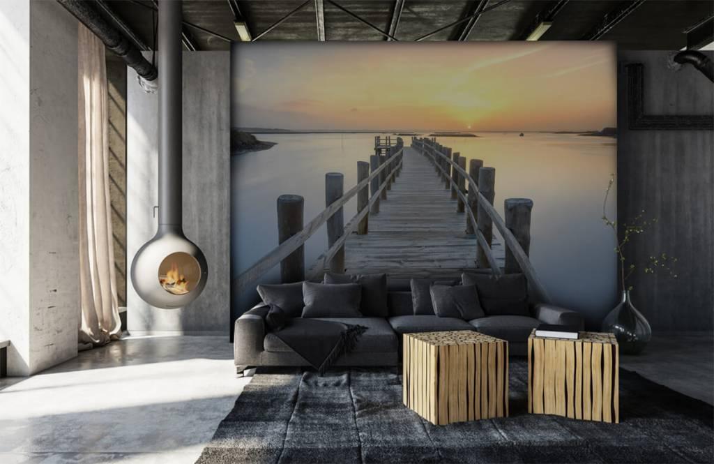 Lacs et eaux - Ponton au coucher du soleil - Salle de séjour 7