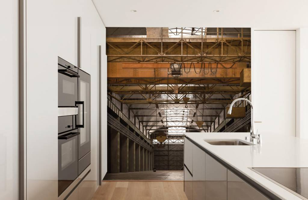 Bâtiments - Hall industriel abandonné - Entrepôt 5