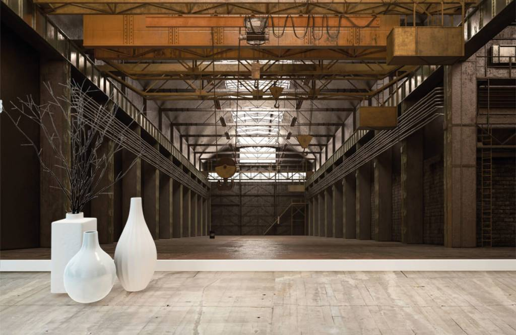 Bâtiments - Hall industriel abandonné - Entrepôt 7