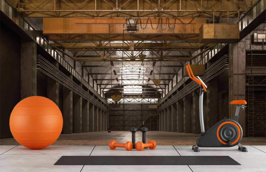 Bâtiments - Hall industriel abandonné - Entrepôt 8