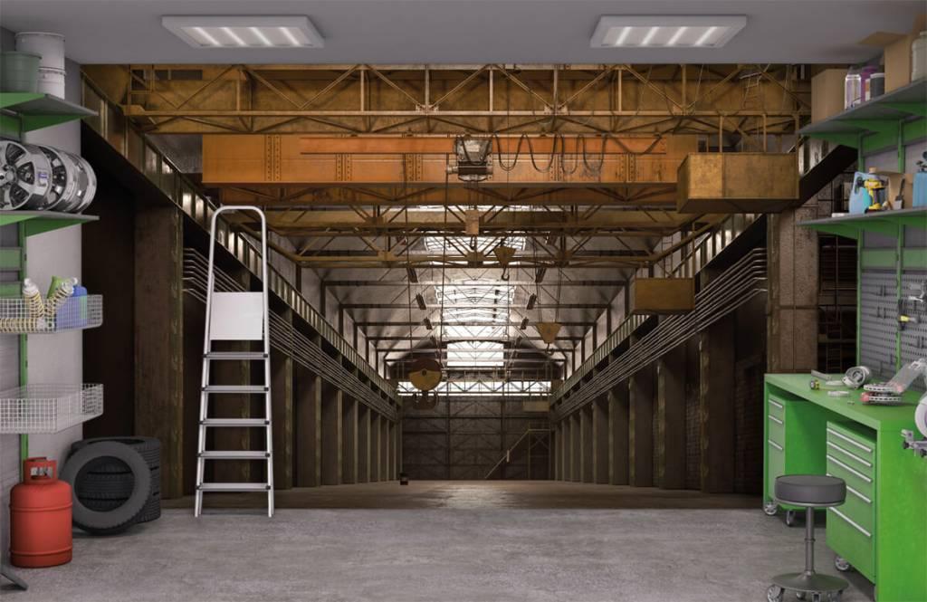 Bâtiments - Hall industriel abandonné - Entrepôt 9