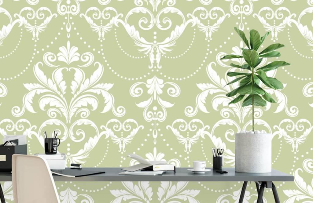 Papier peint baroque - Motif classique - Chambre à coucher 1