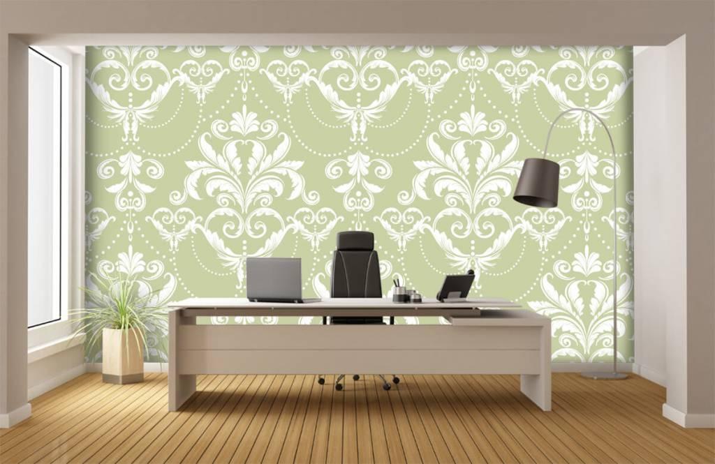 Papier peint baroque - Motif classique - Chambre à coucher 3