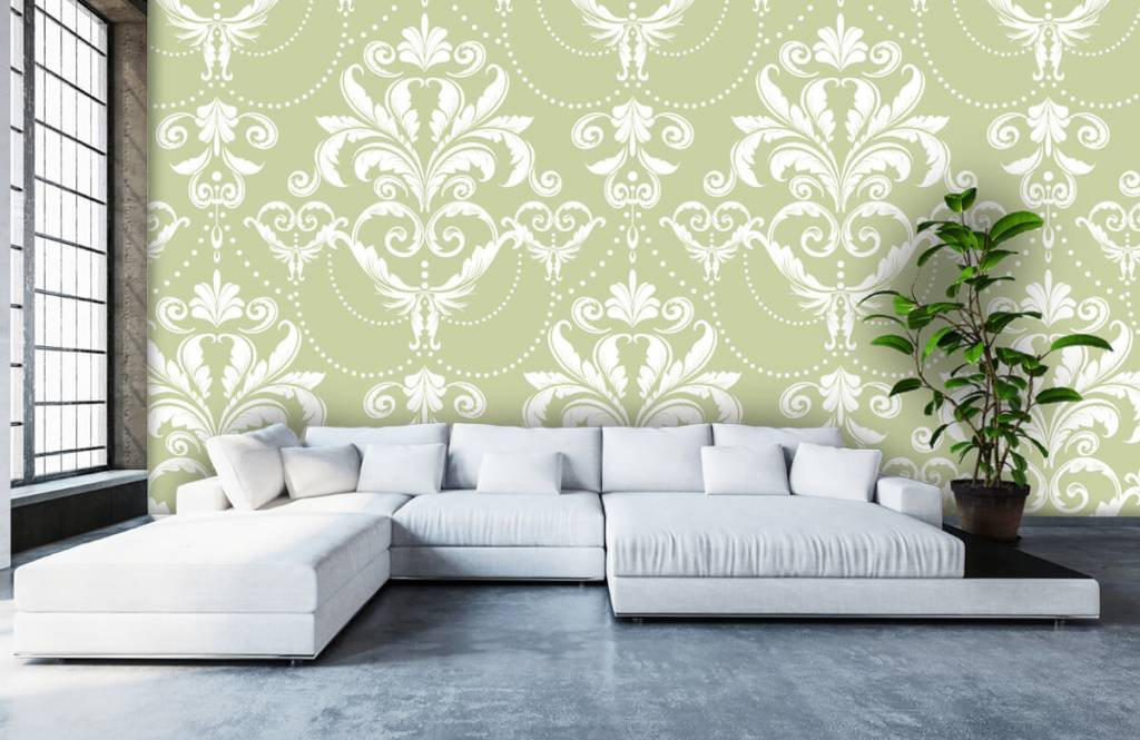Papier peint baroque - Motif classique - Chambre à coucher 5