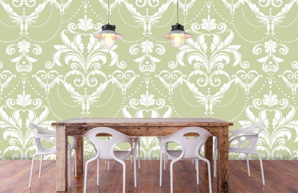 Papier peint baroque - Motif classique - Chambre à coucher 6