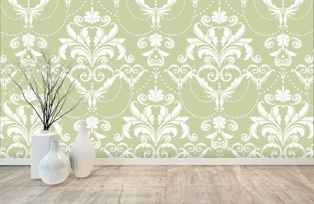 Papier peint baroque - Motif classique - Chambre à coucher 7