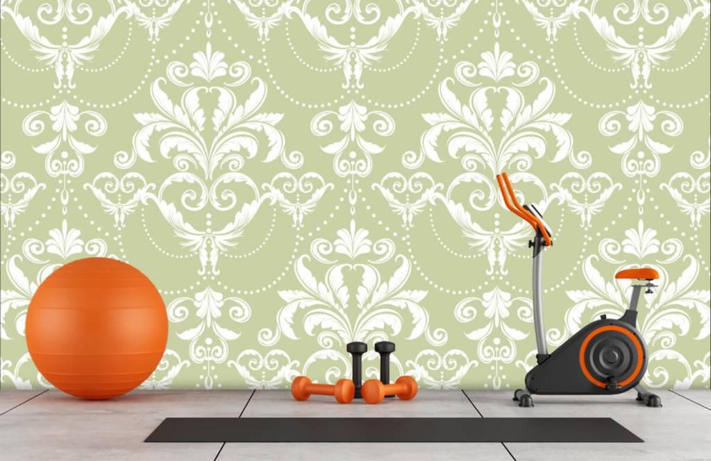 Papier peint baroque - Motif classique - Chambre à coucher 8