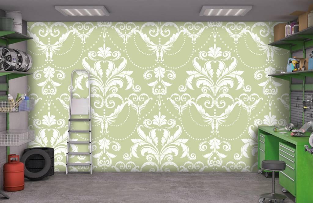 Papier peint baroque - Motif classique - Chambre à coucher 9