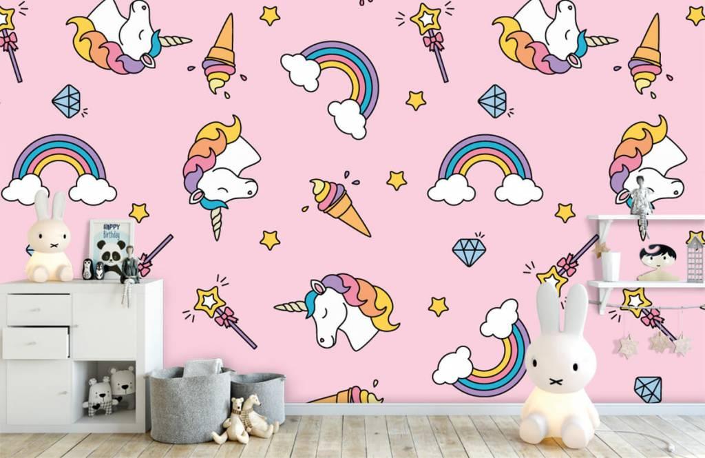 Chevaux - Motif licorne coloré - Chambre d'enfants 1