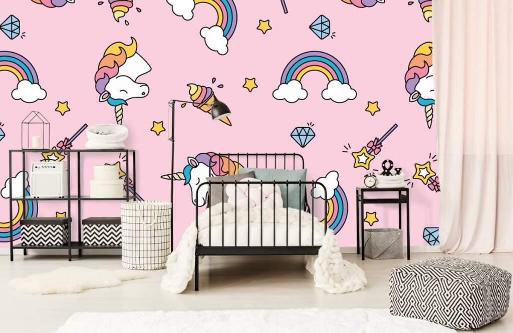 Chevaux - Motif licorne coloré - Chambre d'enfants 2