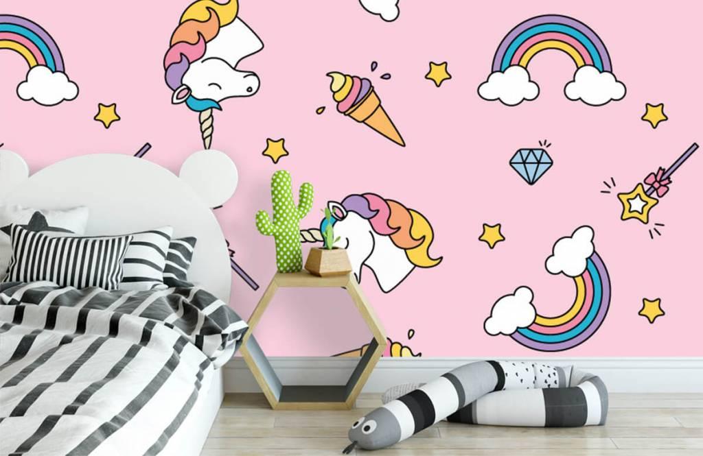 Chevaux - Motif licorne coloré - Chambre d'enfants 3