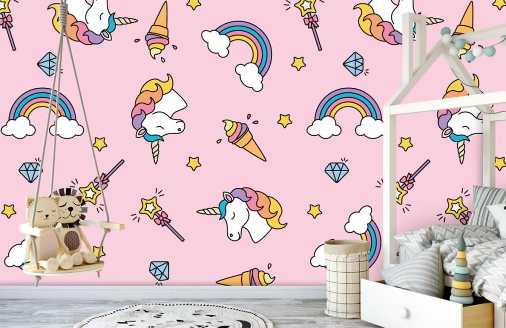 Chevaux - Motif licorne coloré - Chambre d'enfants 4