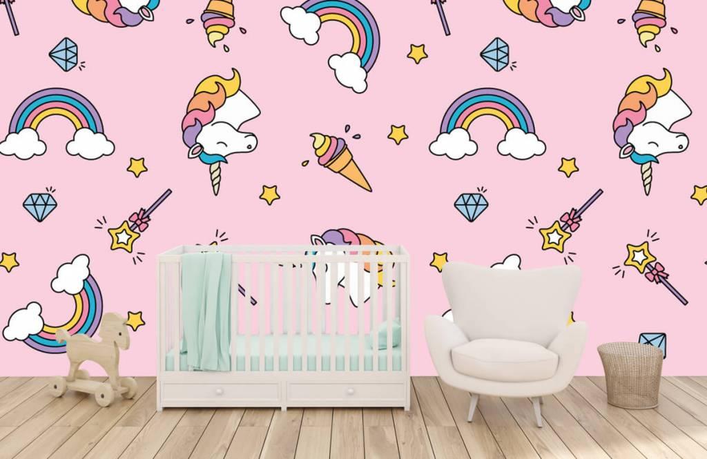 Chevaux - Motif licorne coloré - Chambre d'enfants 5