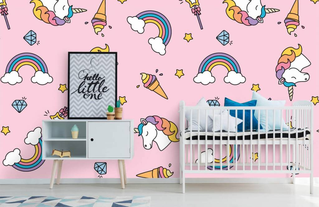 Chevaux - Motif licorne coloré - Chambre d'enfants 6