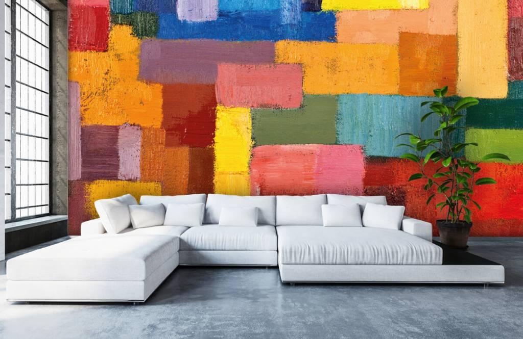 Abstrait - Répartition des surfaces colorées - Salle de séjour 1