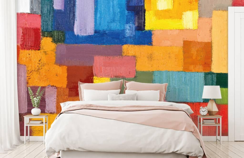 Abstrait - Répartition des surfaces colorées - Salle de séjour 2