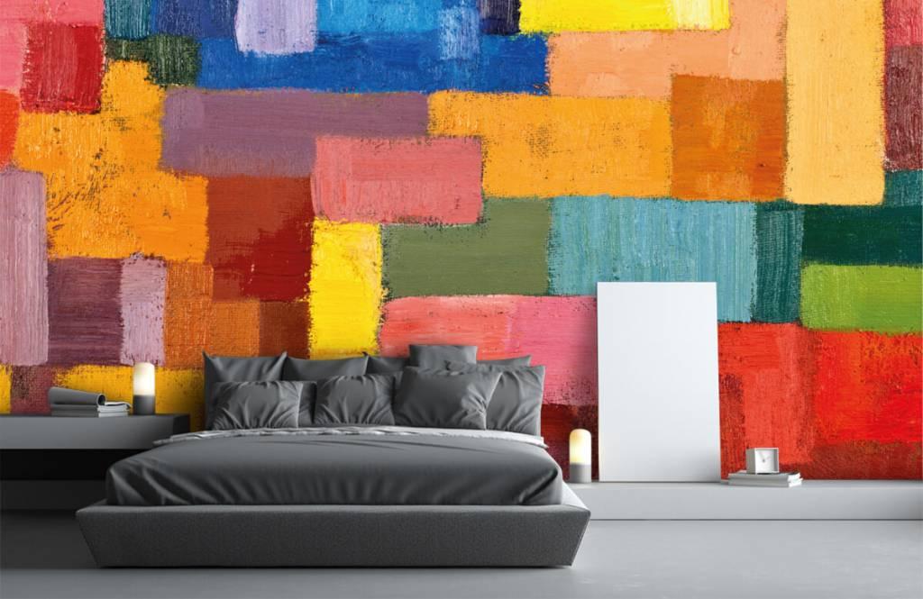 Abstrait - Répartition des surfaces colorées - Salle de séjour 3
