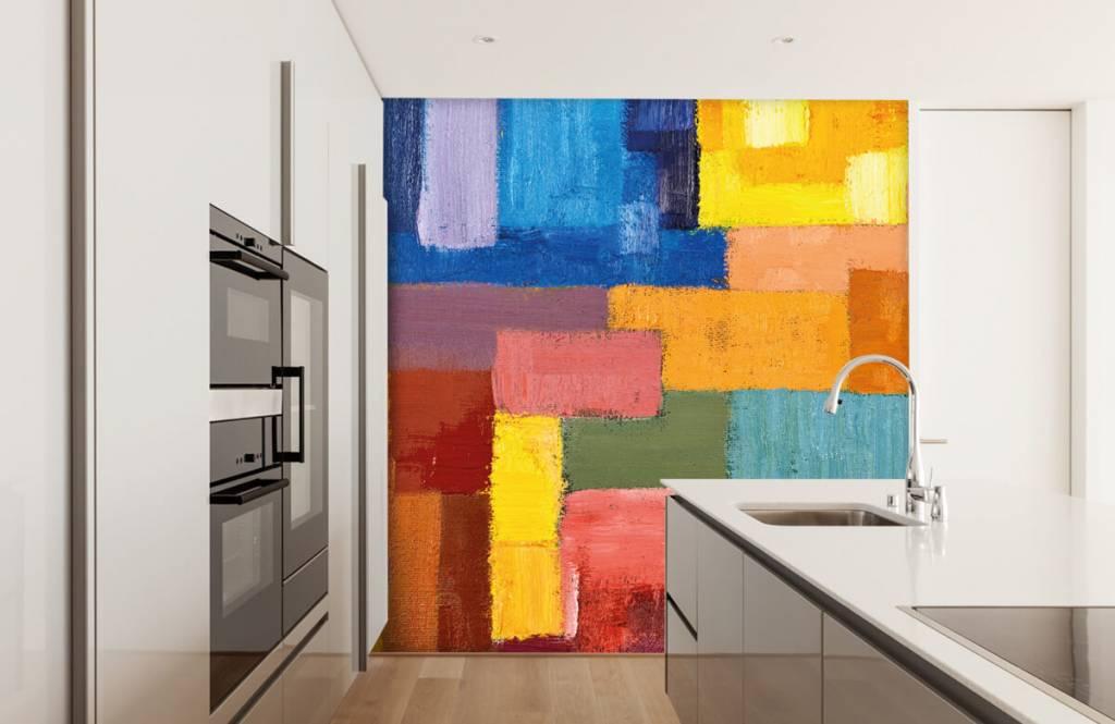 Abstrait - Répartition des surfaces colorées - Salle de séjour 4