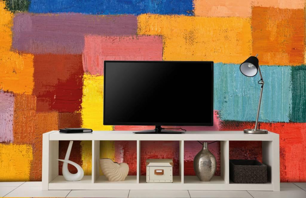 Abstrait - Répartition des surfaces colorées - Salle de séjour 5