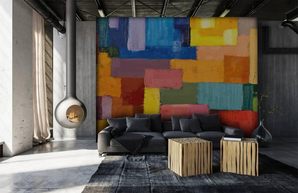 Abstrait - Répartition des surfaces colorées - Salle de séjour 6