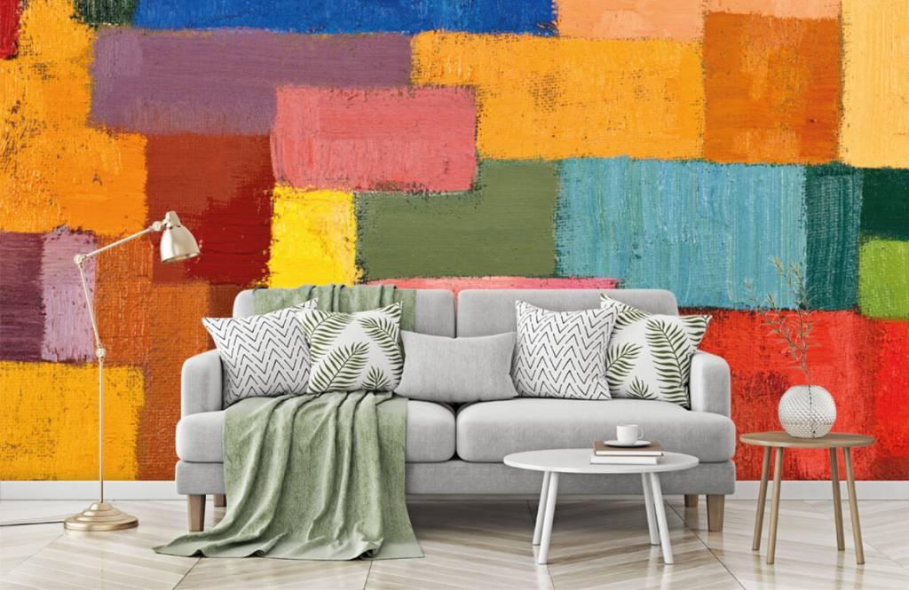 Abstrait - Répartition des surfaces colorées - Salle de séjour 7