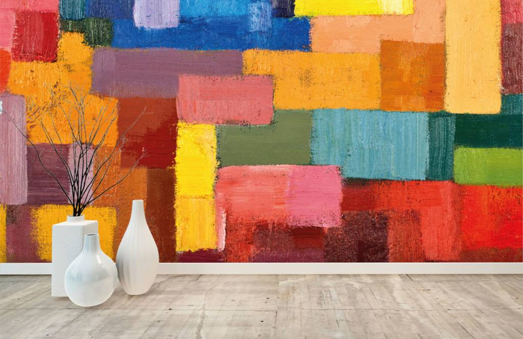Abstrait - Répartition des surfaces colorées - Salle de séjour 8
