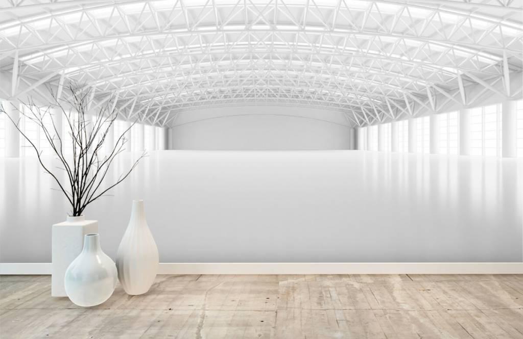 Bâtiments - Entrepôt blanc vide - Gestion 7