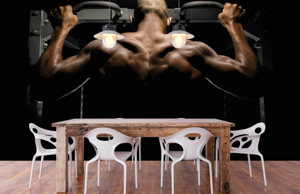 Fitness - Homme au dos musclé - Entrepôt 2