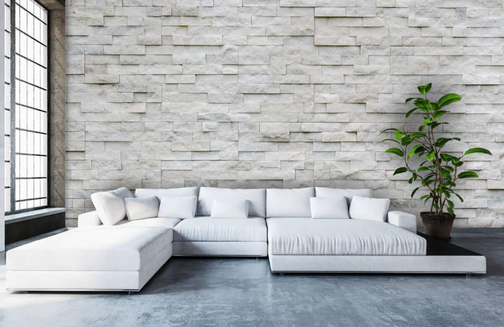 Papier peint en pierre - Mur en pierre moderne - Cafétéria 1