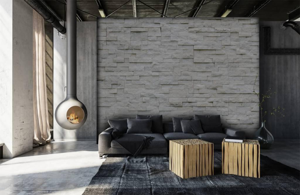 Papier peint en pierre - Mur en pierre moderne - Cafétéria 5