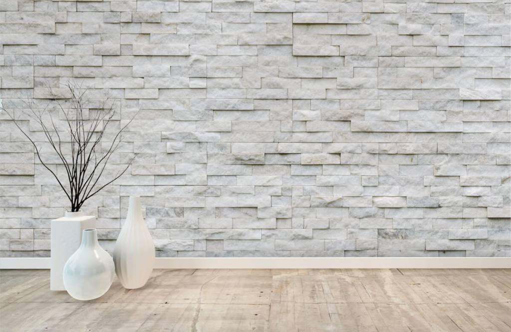 Papier peint en pierre - Mur en pierre moderne - Cafétéria 7