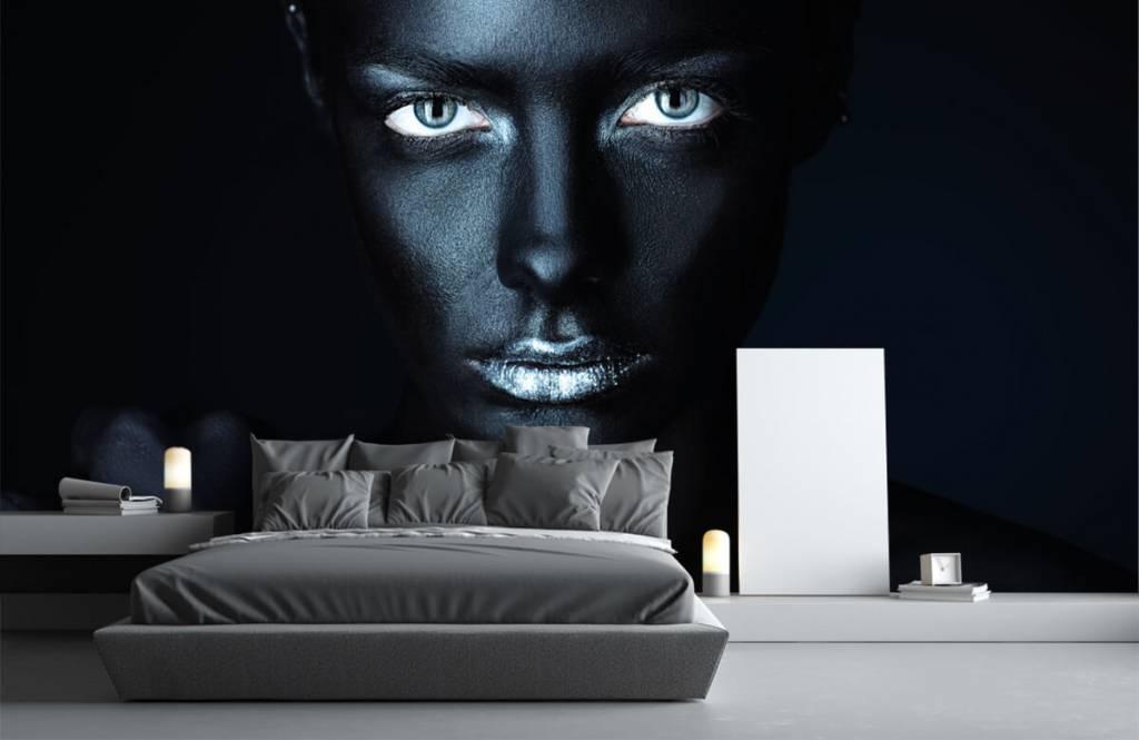 Portraits et visages - Femme mystérieuse - Salle de séjour 3