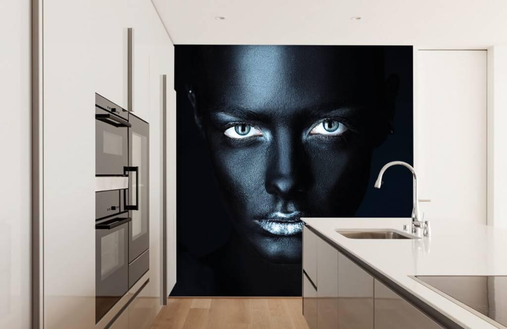 Portraits et visages - Femme mystérieuse - Salle de séjour 4