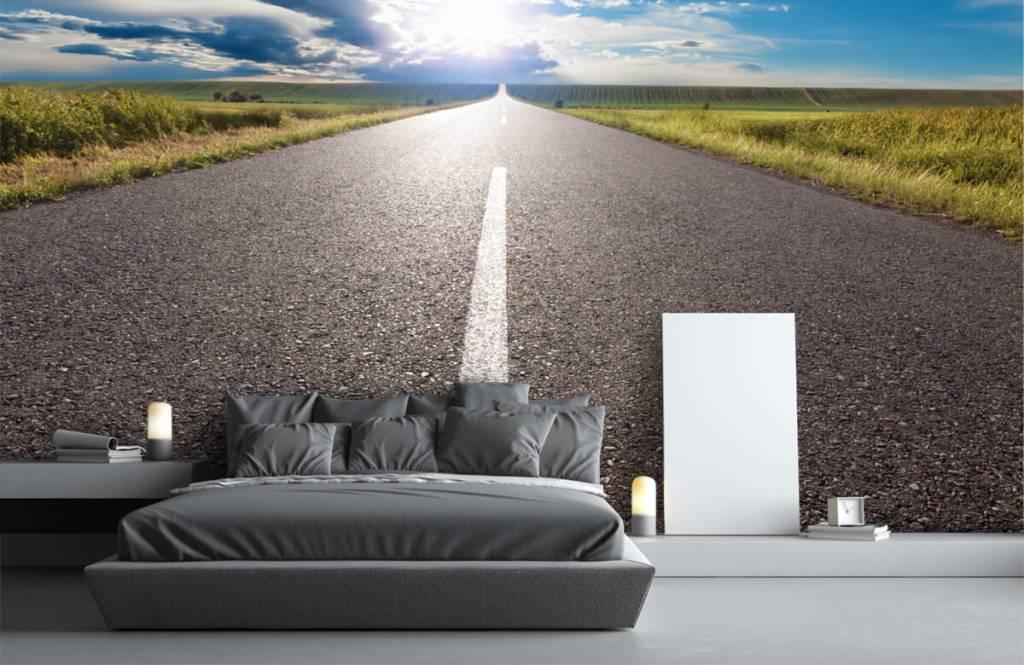 Routes et Rues - Route infinie - Chambre à coucher 1