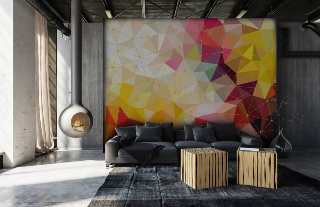 Autre - Impression de triangles colorés - Chambre à coucher 1